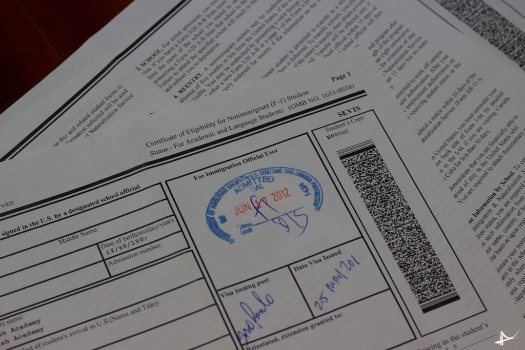 I-20- Principal formulario para o visto de estudante