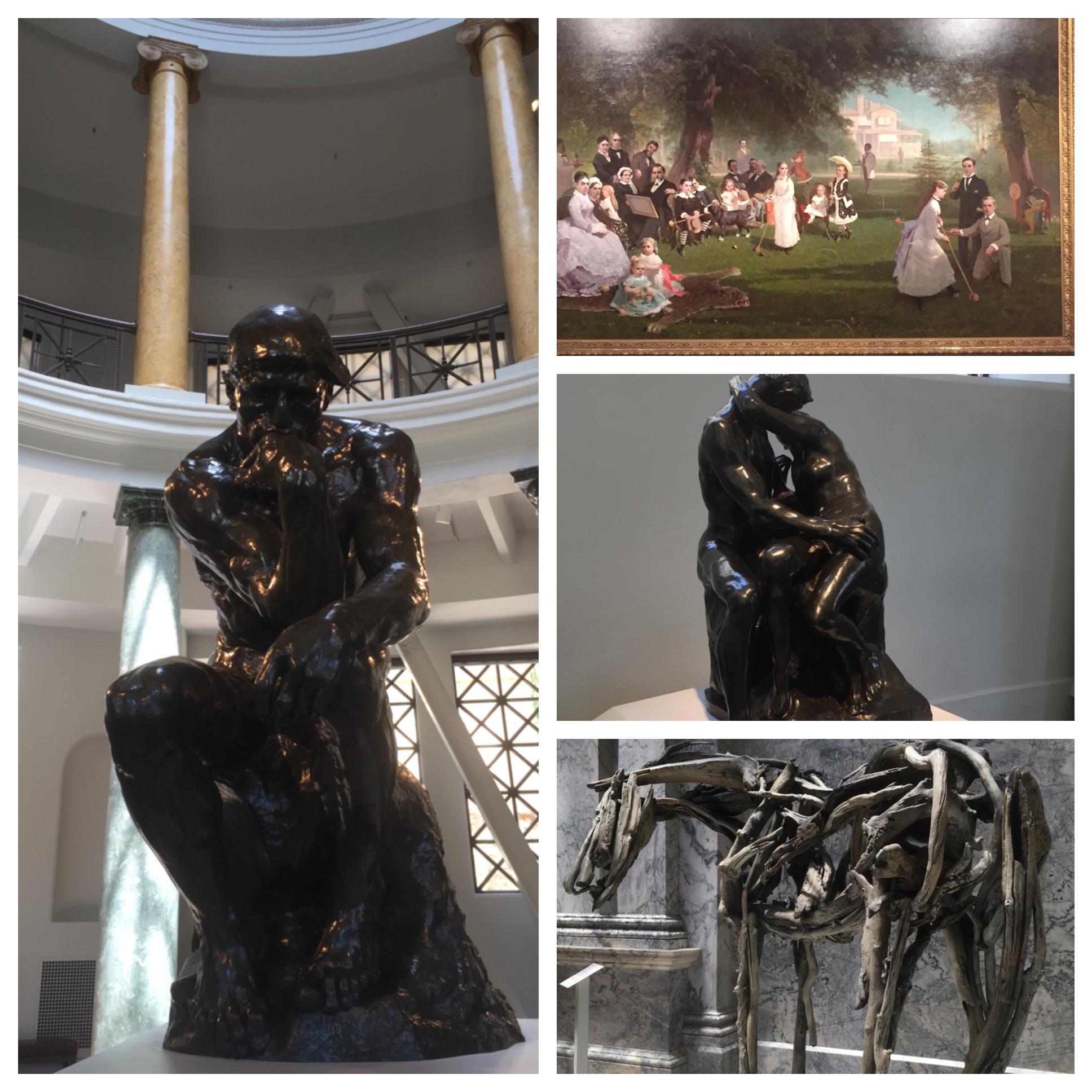O pensador, a família Stanford, The Kiss e demais obras no Cantor Arts Museum