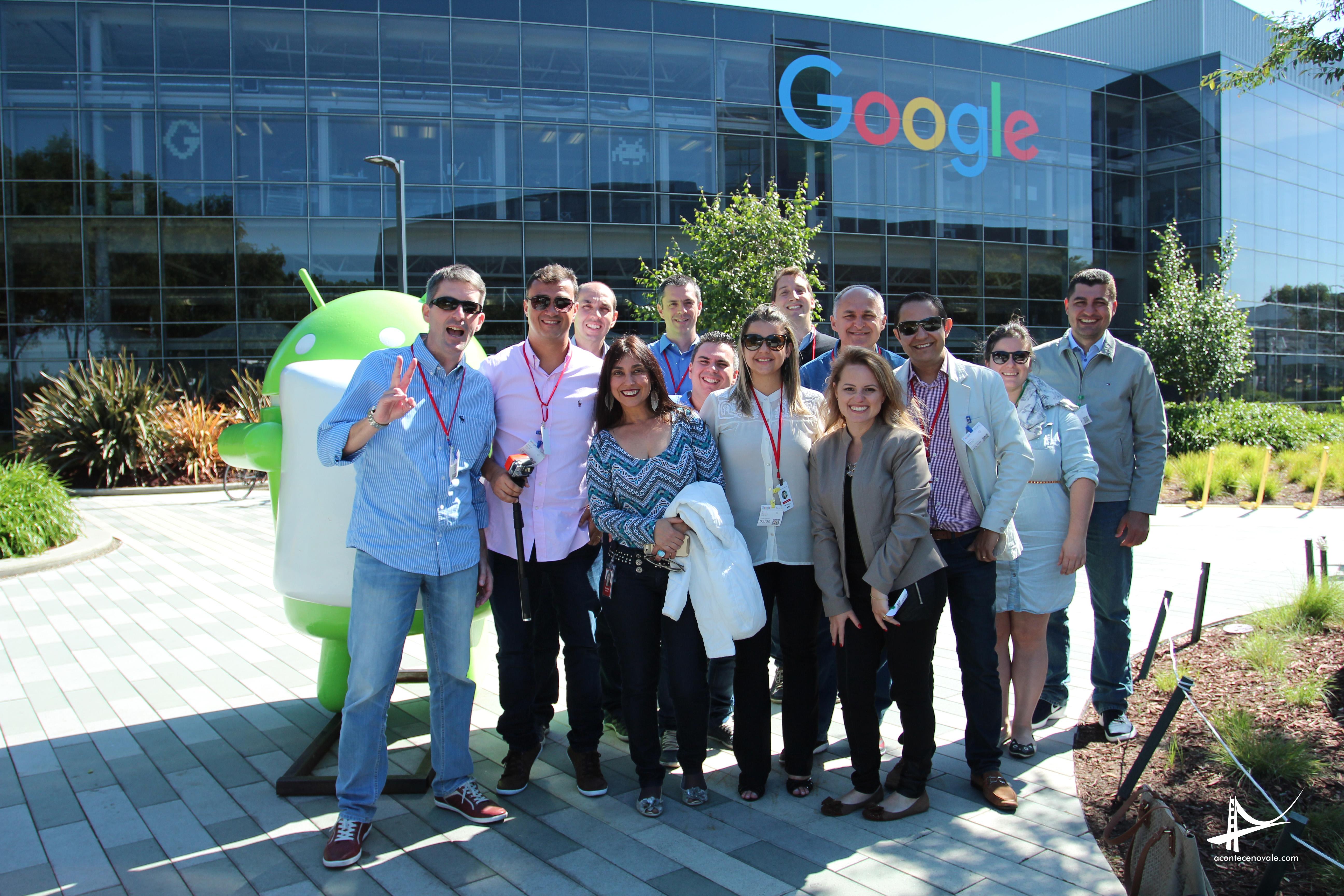 Missão no Vale no Google com as responsáveis pela equipe de vendas