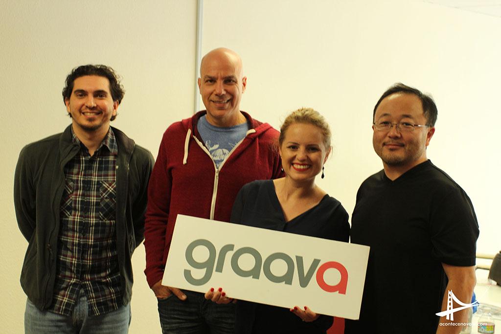 Eu com Bruno Gregory, Marcelo do Rio e Márcio Saito co-fundadores da Graava