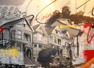 Paredes estilosas do Spin - Ping-pong club em San Francisco