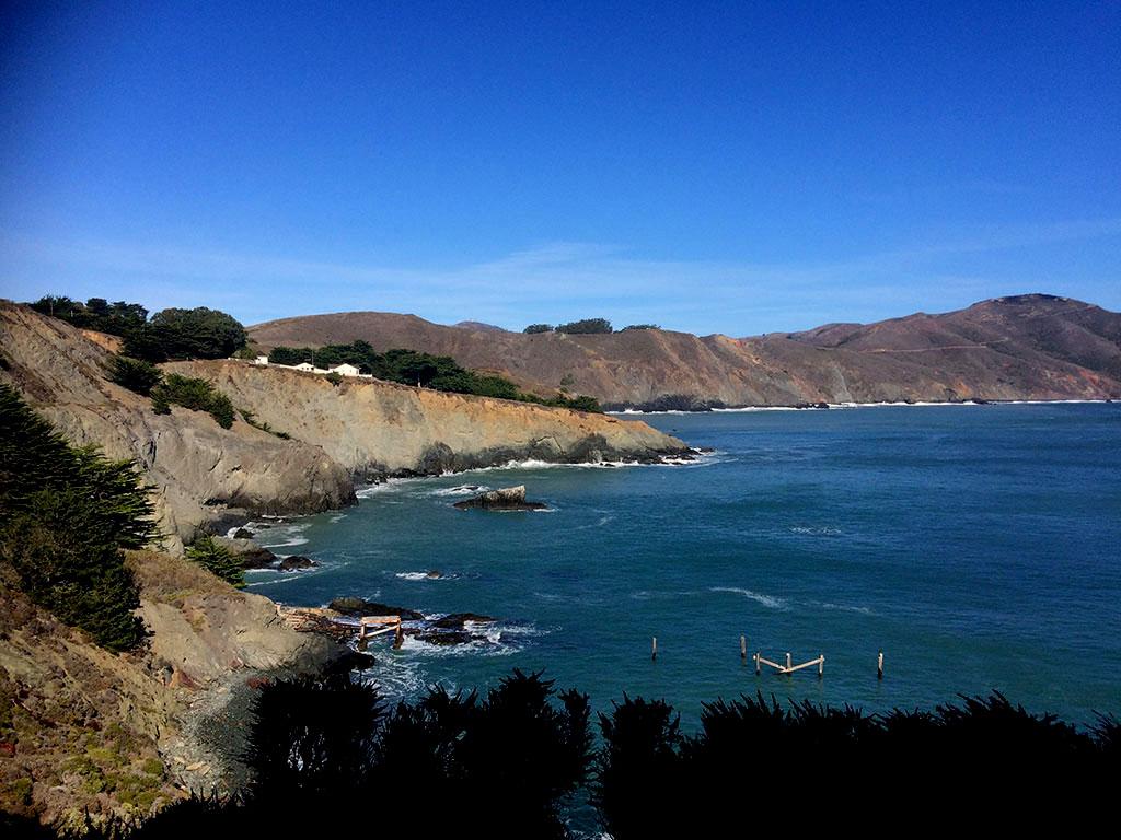 O caminho para o Point Reys Lighthouse