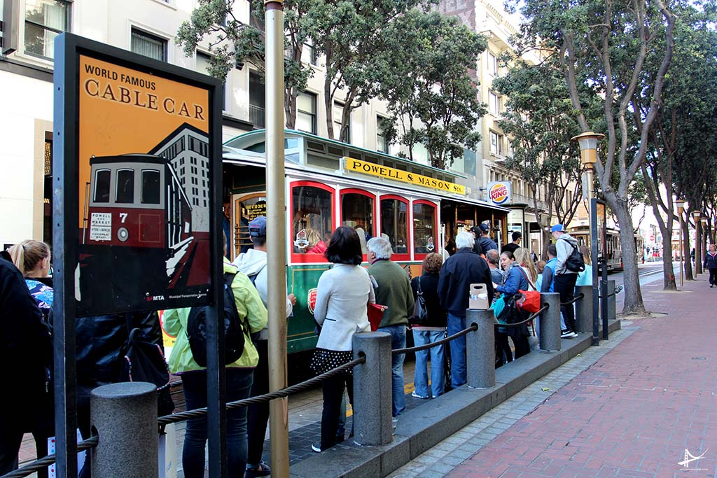 Ponto de parada do cable car