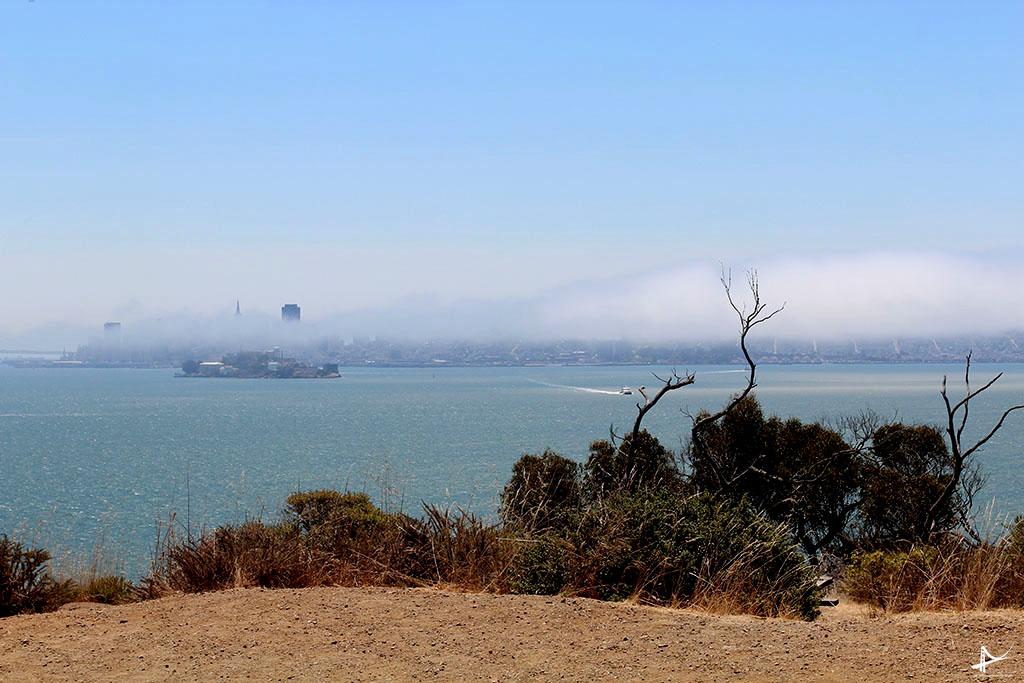 Vista do Alcatraz e San Francisco da Angel Island