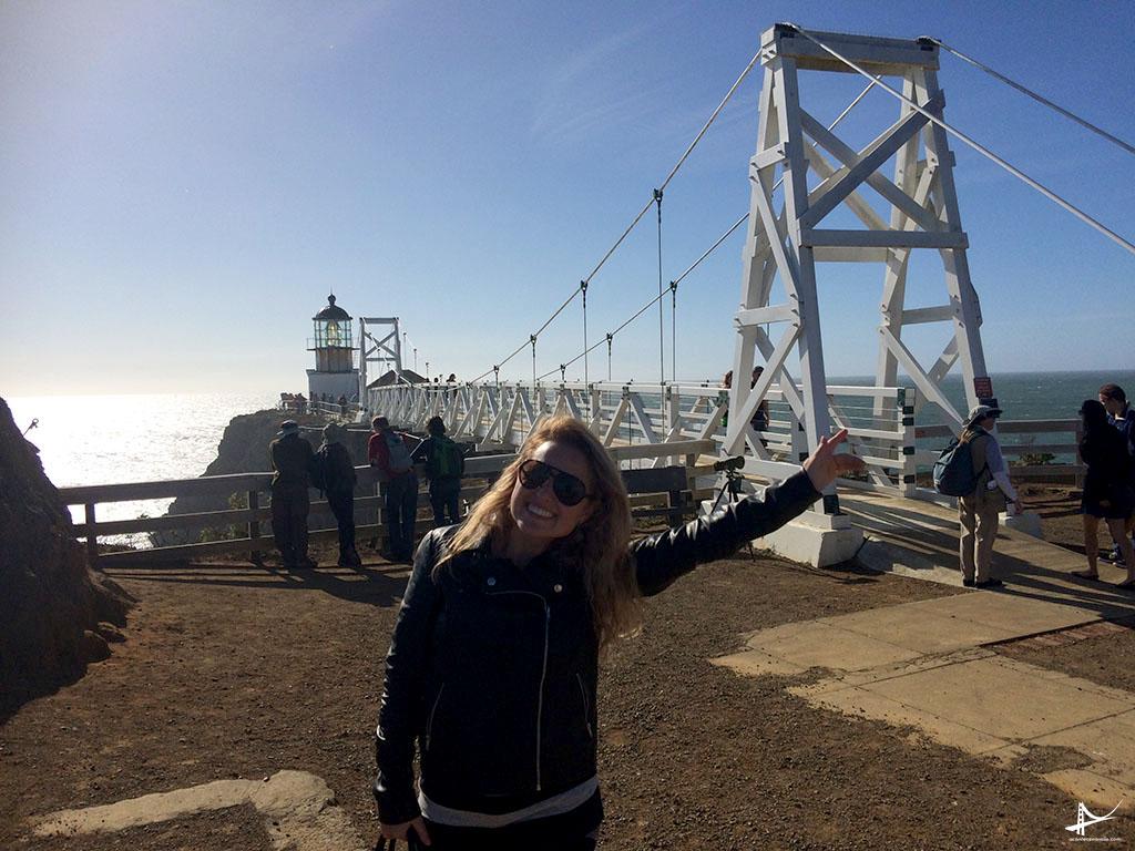Eu no Point Reys Lighthouse