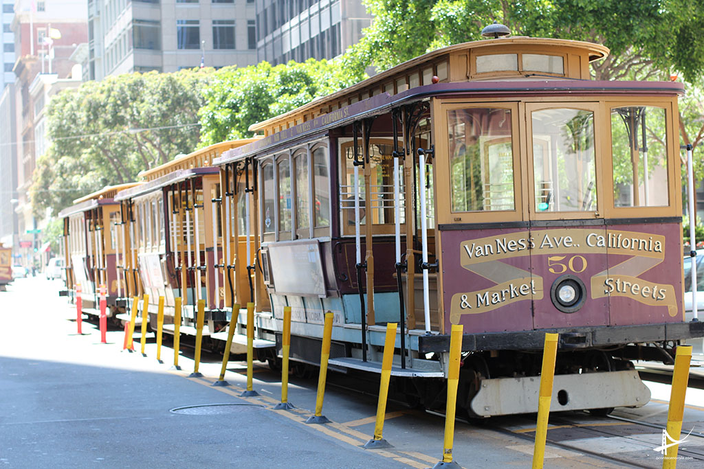 Cable car em San Francisco