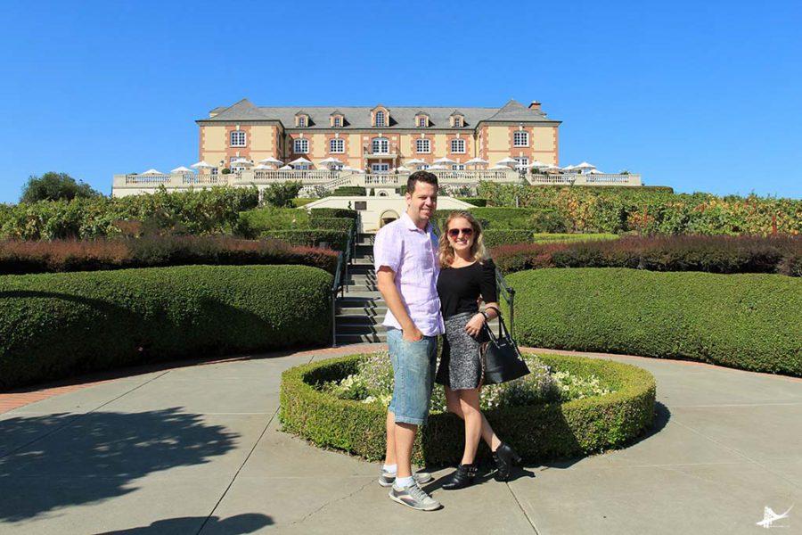 Eu e o maridao na Domaine Carneros