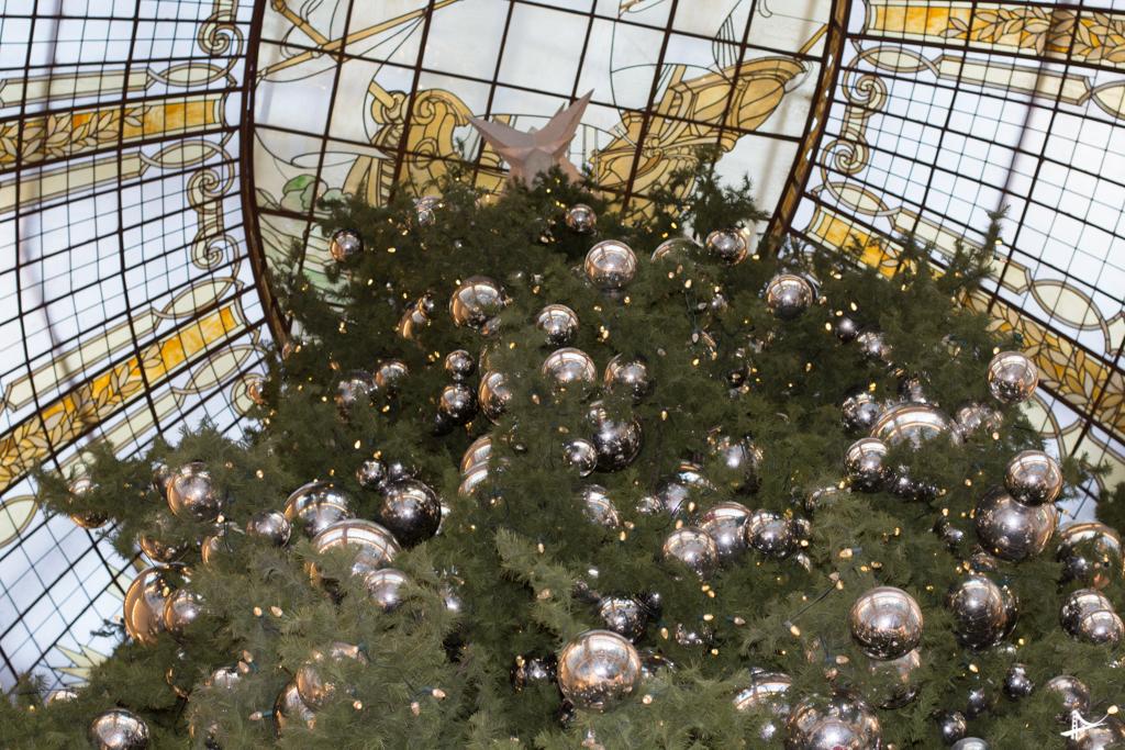 Decoração de Natal nas lojas do centro de San Francisco