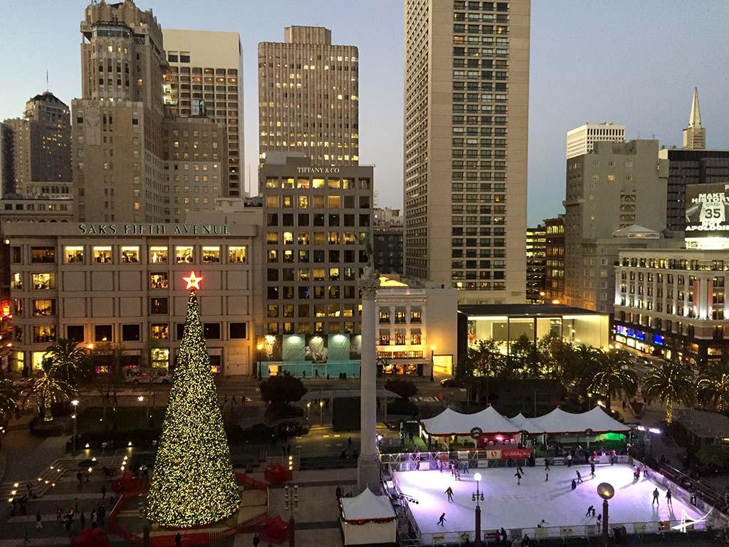 Union Square vista do alto da Macy's