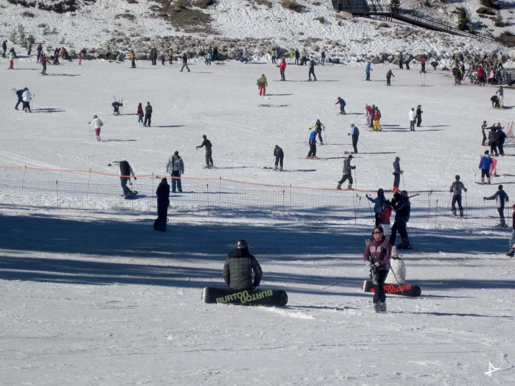 Esquiando em Tahoe