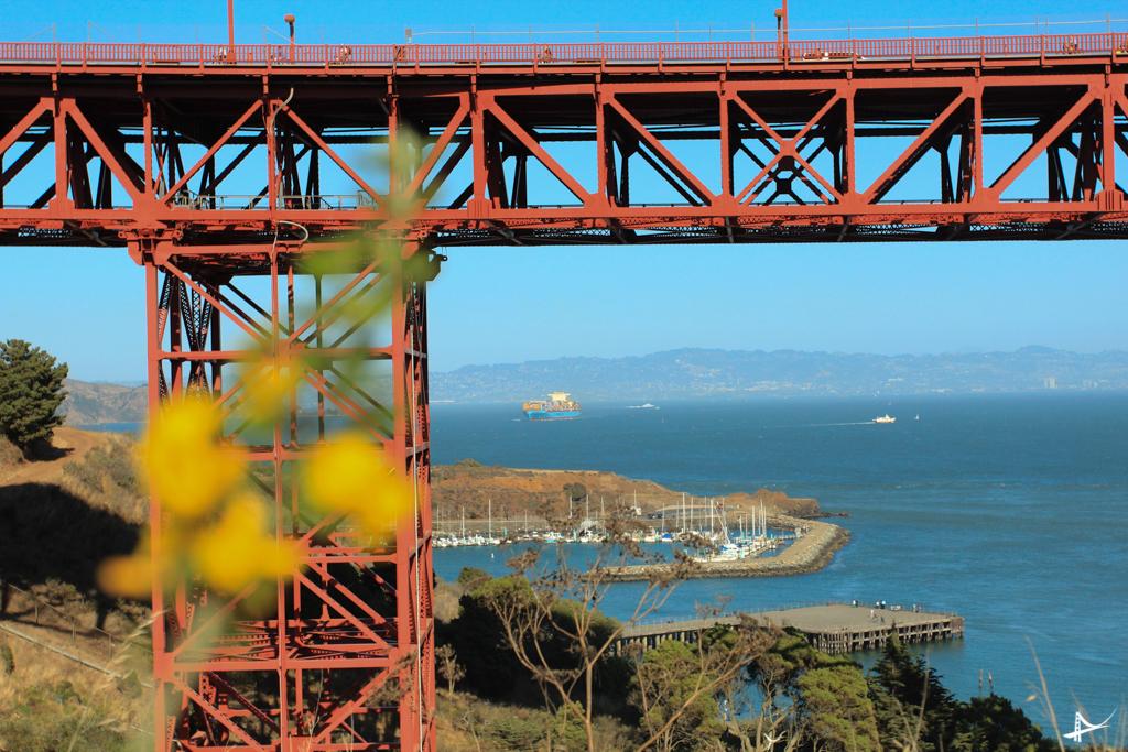 De bike debaixo da Golden Gate