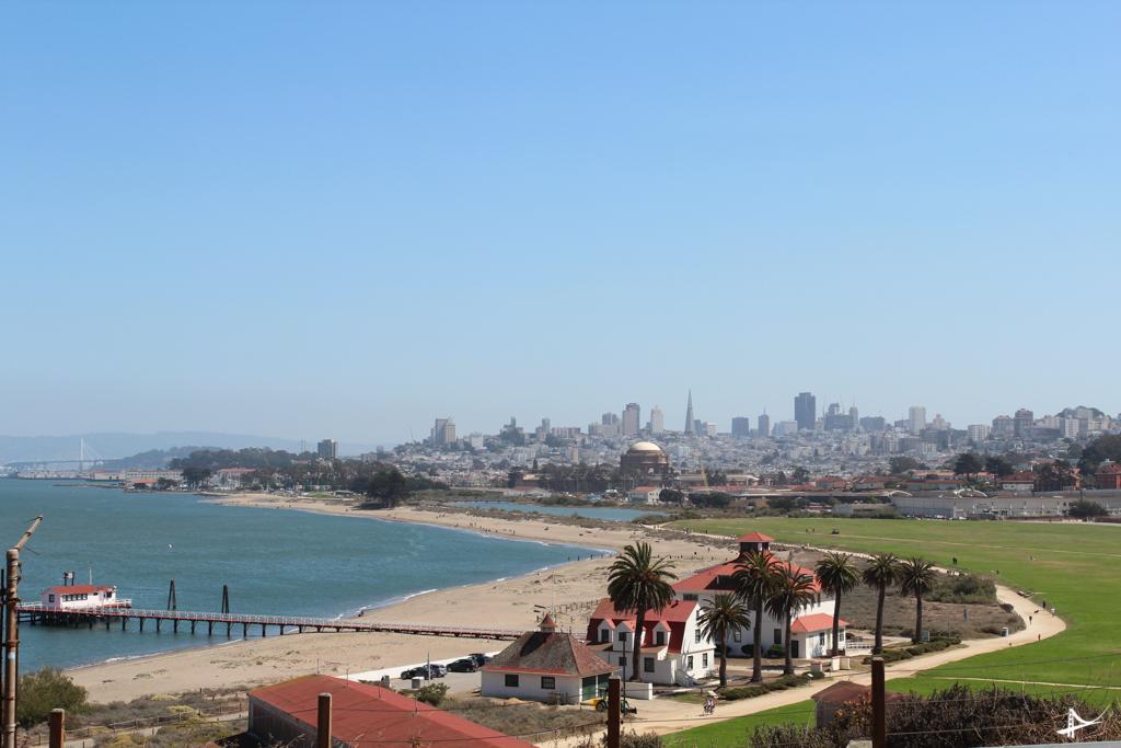 Vista de San Francisco na subida pro mirante da ponte