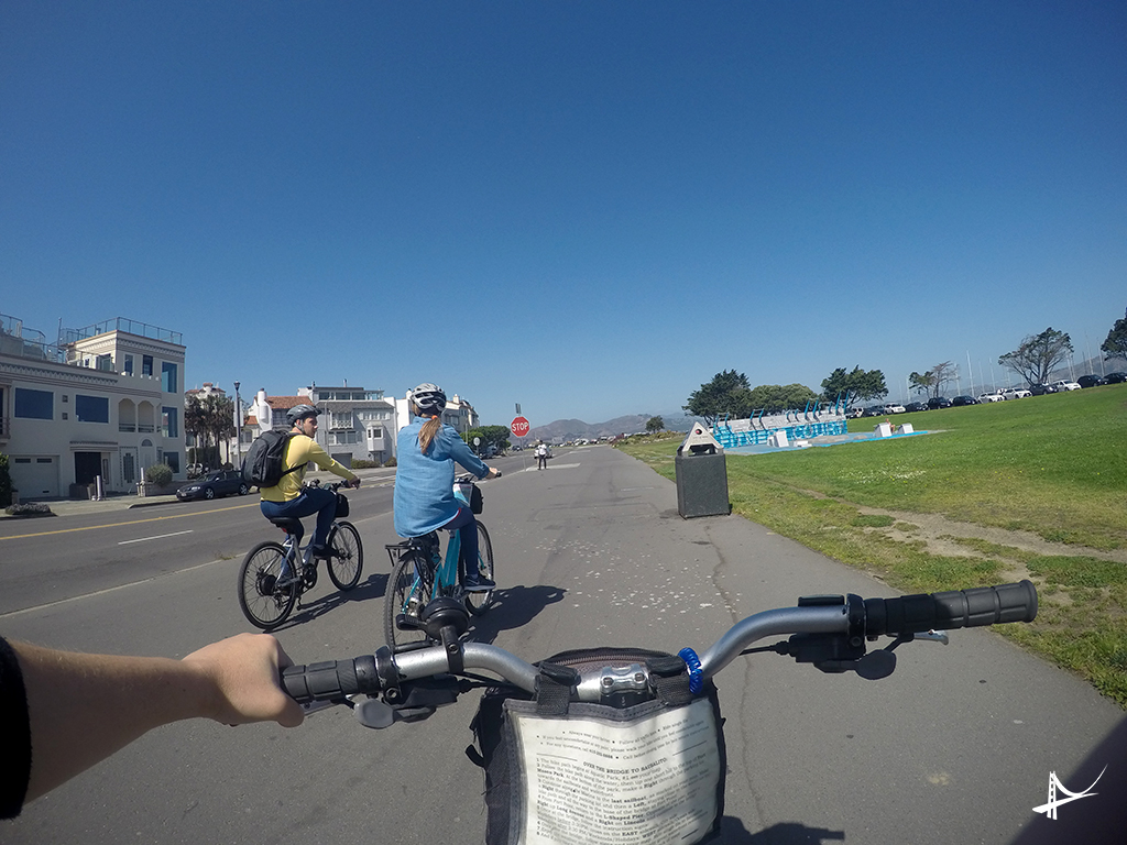 Bike na Marina rumo a Golden Gate