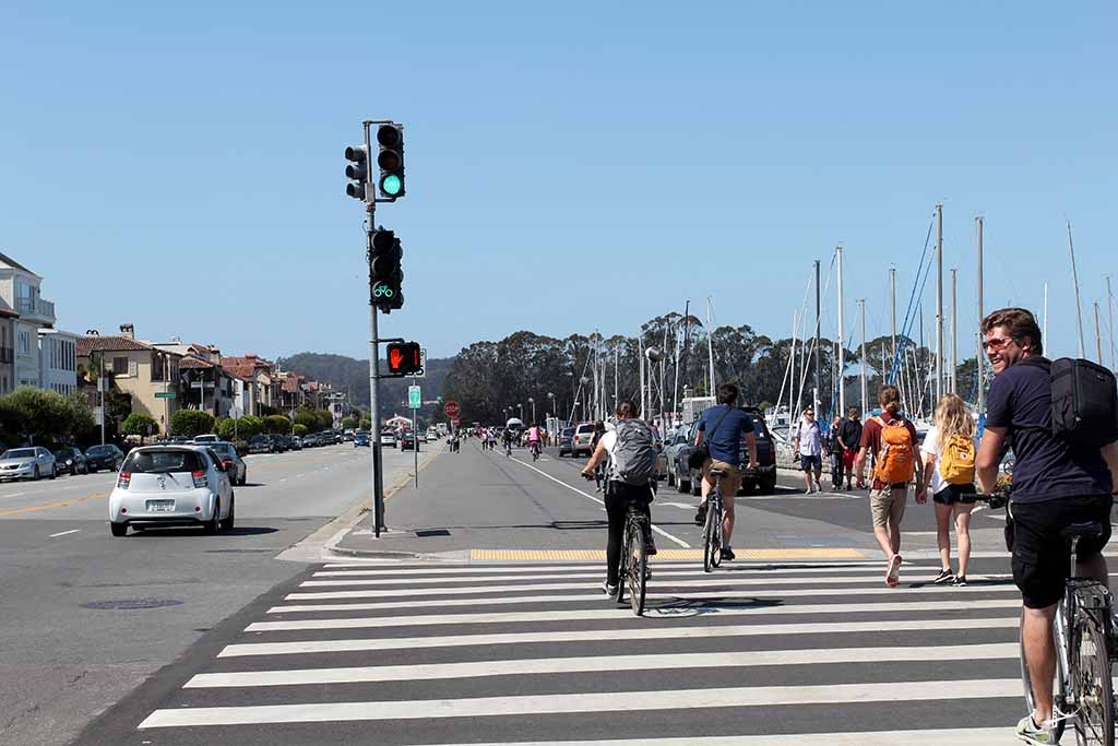 Sinaleira para as bicicletas