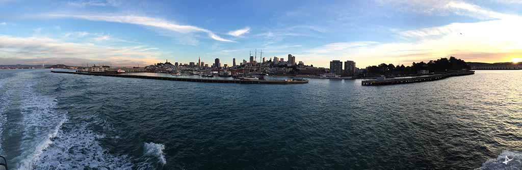 Vista do ferry de Sausalito para San Francisco