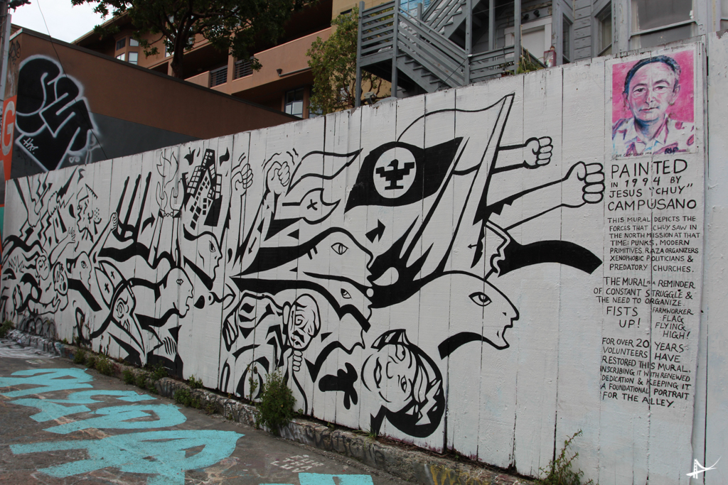 rua dos murais em San Francisco
