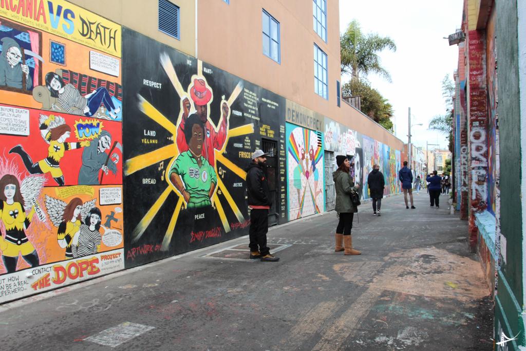 rua dos grafites em San Francisco