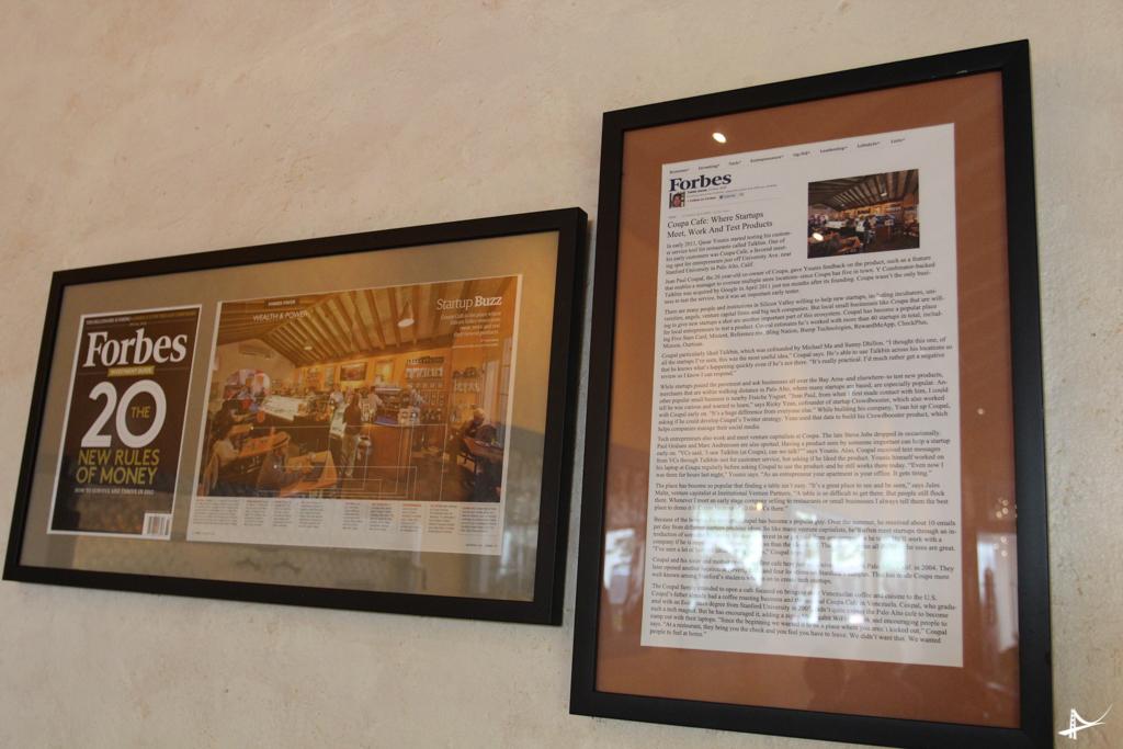 Reportagens nas parees do Coupa Cafe