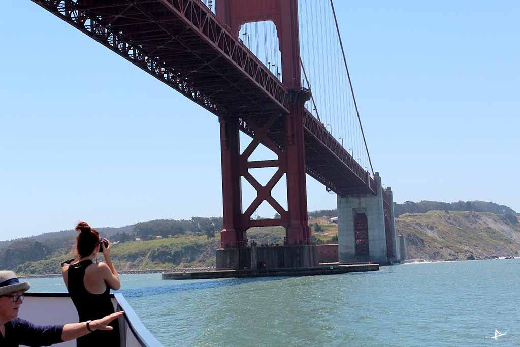 Embaixo da Golden Gate Bridge