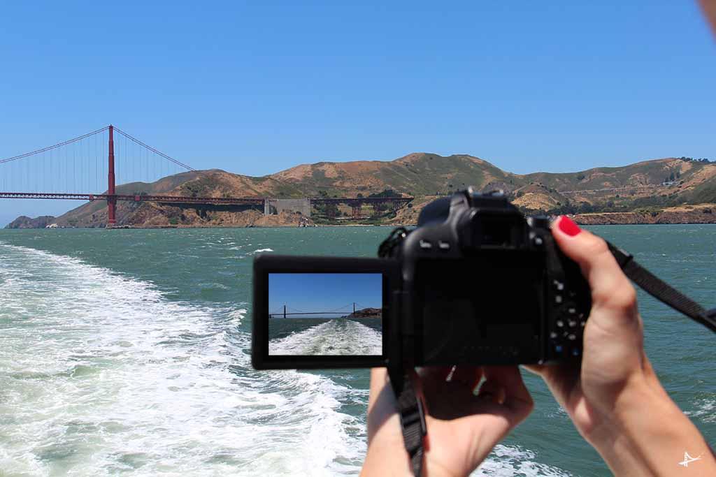 Fotos passando pela Golden Gate