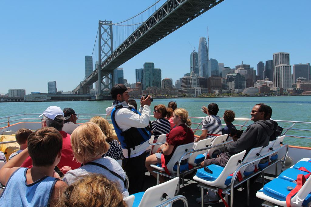 Parada para as fotos no Rocketboat em San Francisco