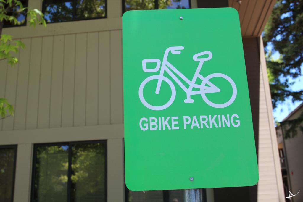 Estacionamento das Gbikes no campus da Google