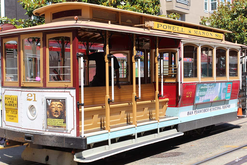 Cable car com o CityPASS de San Francisco