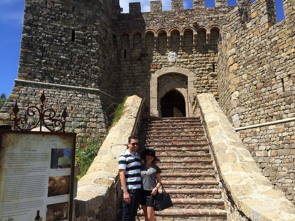 Castelo di Amorosa em Napa Valley