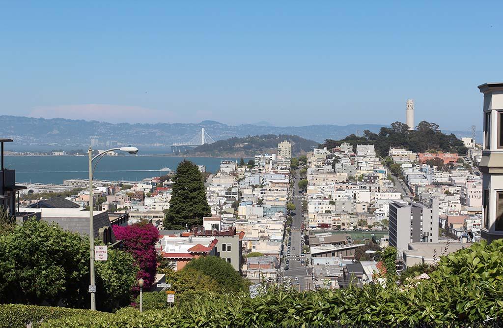 Vista da Lombard Street em San Francisco