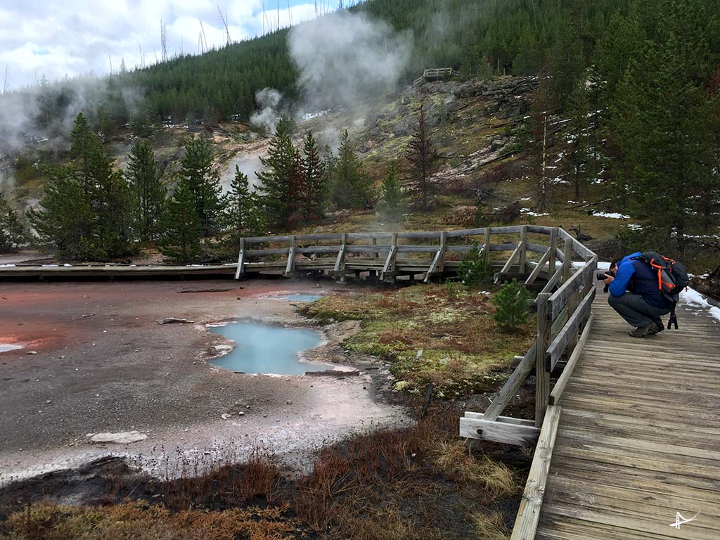 Artists Paintpots no Yellowstone