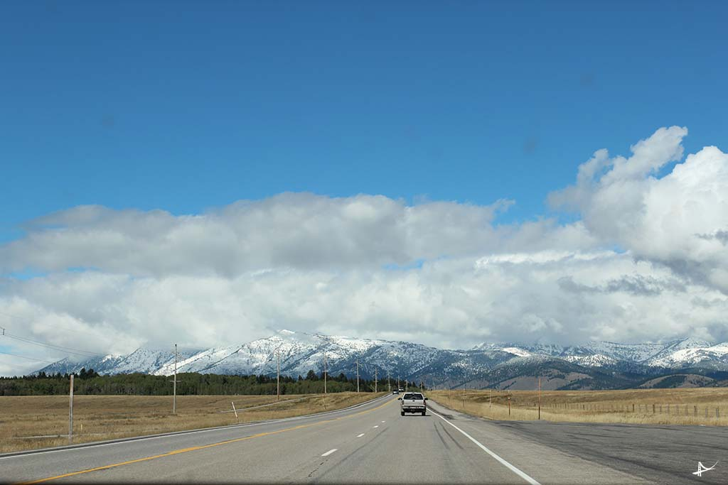 Estrada de Salt Lake City pro Yellowstone