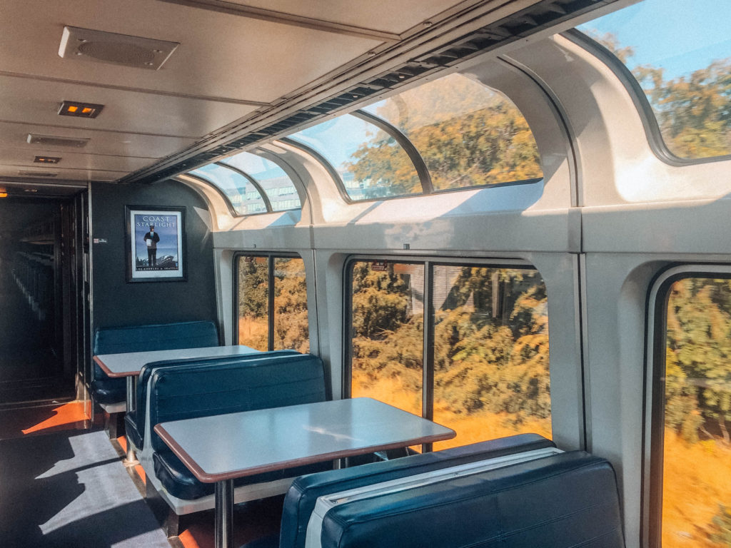 Viagem de trem na California