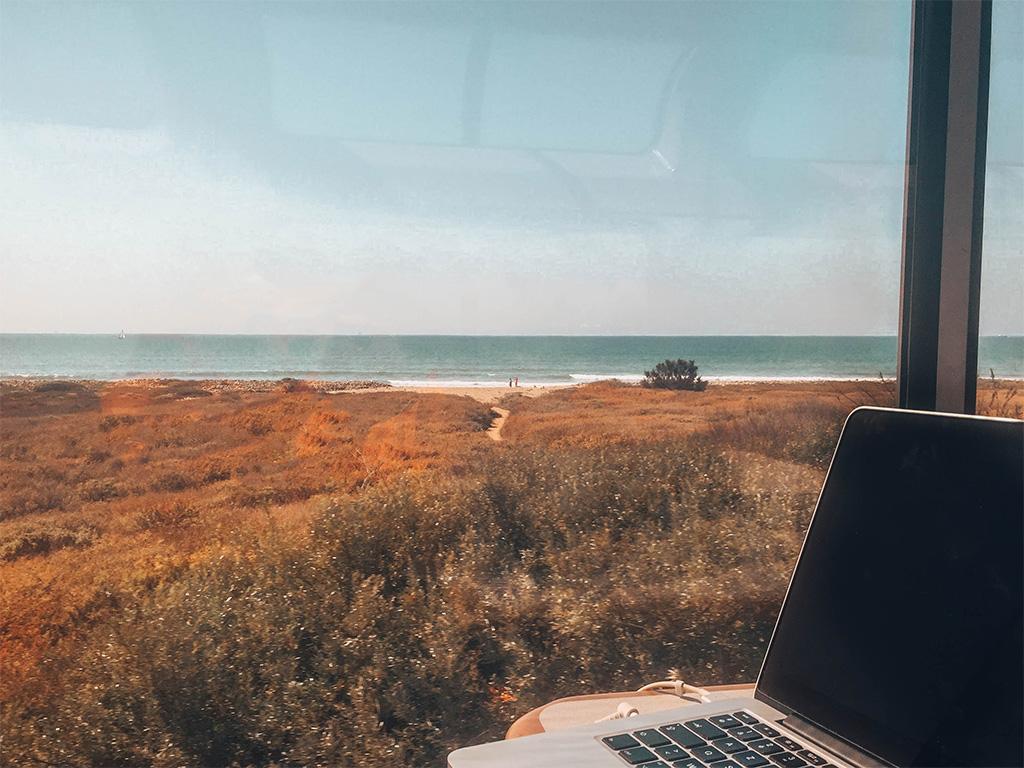 Trabalhando do trem.