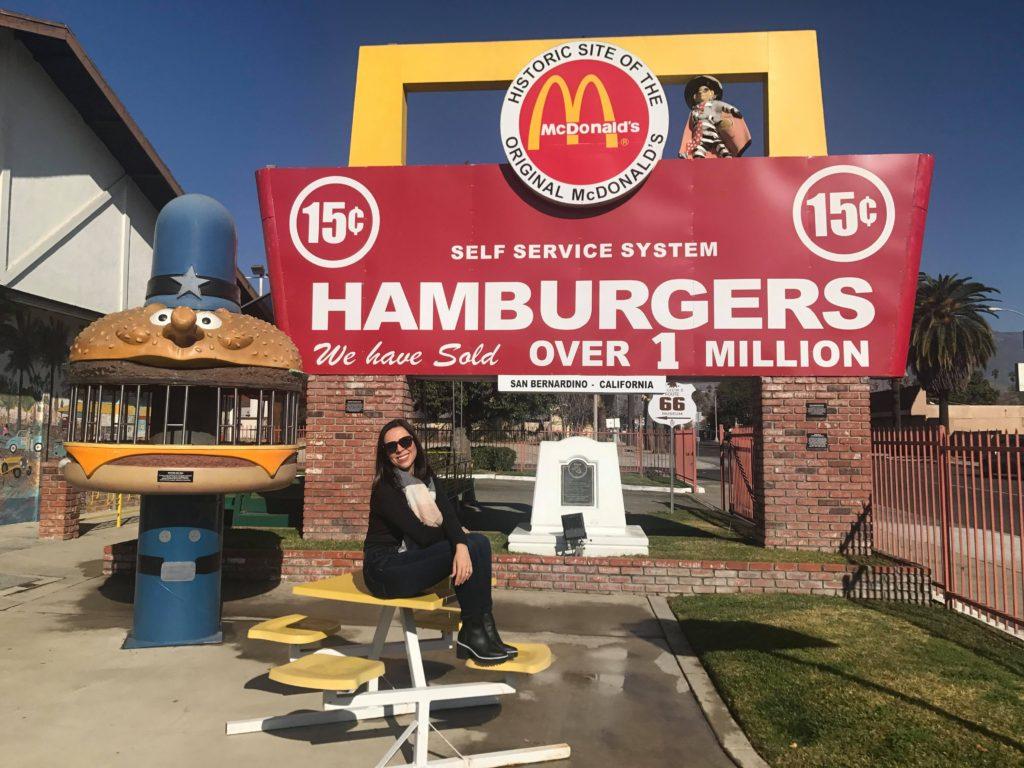 Museu do McDonalds entre Los Angeles e Las Vegas