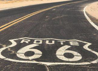 Foto Rota 66 no asfalto