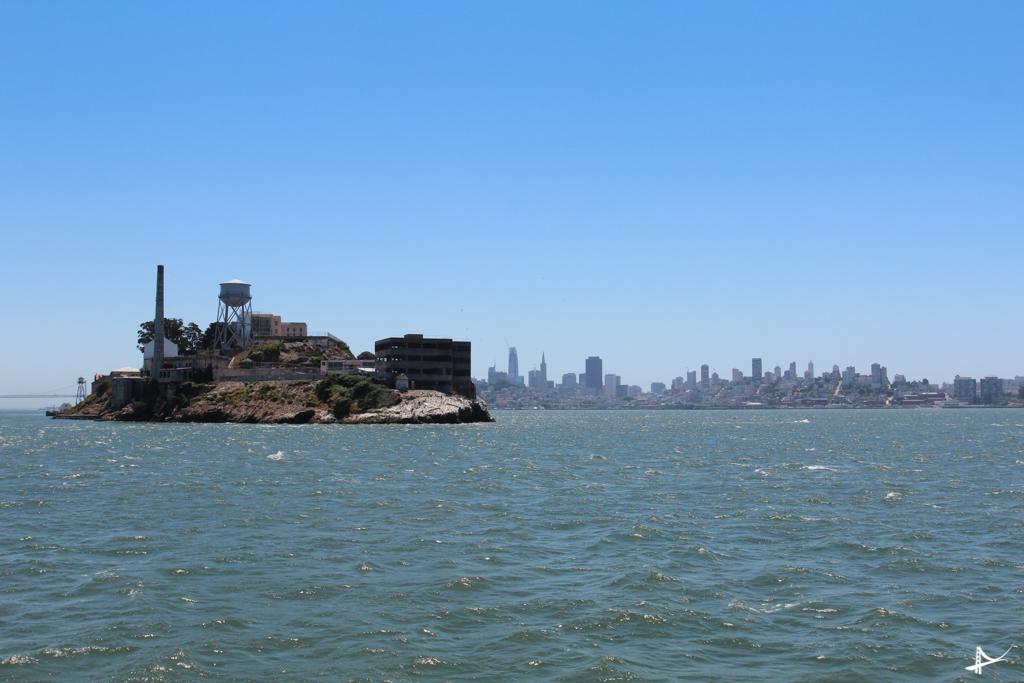 Alcatraz vista dos barcos