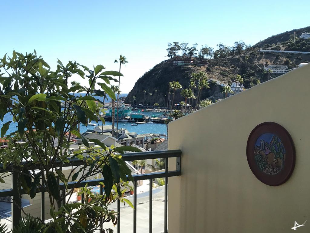Terraço no Avalon Hotel em Catalina island