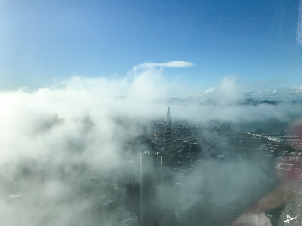 Vistas do alto da Salesforce Tower
