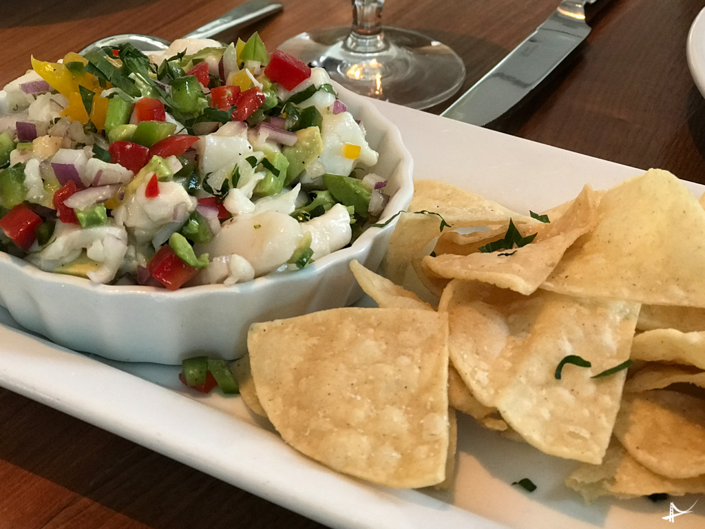 ceviche no The C Restaurant em Monterey