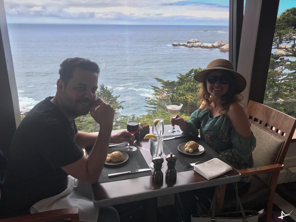 restaurante do Highlands Inn em Carmel