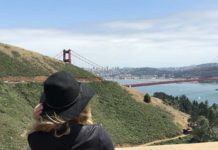 Vista da Golden Gate Bridge do Marin Headlands